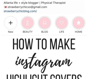 Instagram highlight covers, diy Instagram story covers, Instagram feed theme