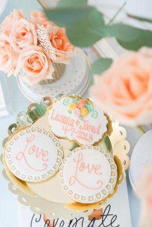 bridal shower cookies, bridal shower desserts, bridal shower decor