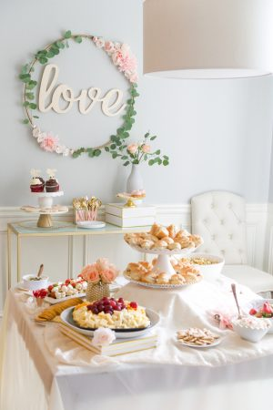 bridal-shower-food-table, bridal shower food ideas
