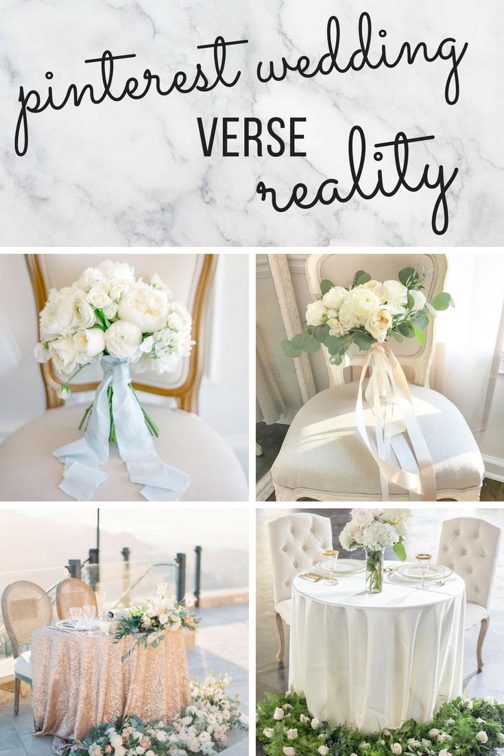 pinterest wedding verse reality