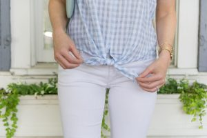 Gingham Tie Waist Top, madewell-top-strawberry-chic