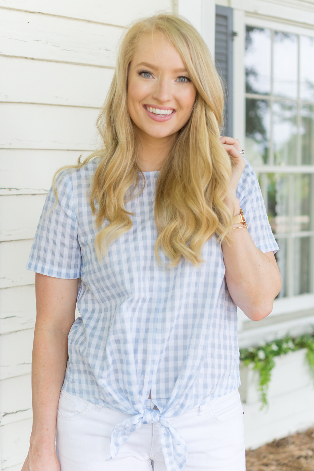 Gingham Tie-Waist Top, madewell-gingham-top, strawberrychic