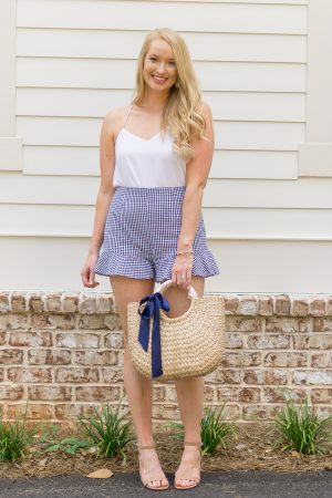 Navy-gingham-shorts-strawberry-chic