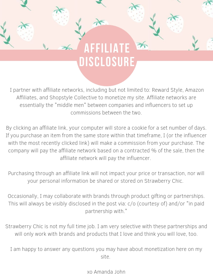Affiliates Disclosure Affiliates Disclosure new pictures