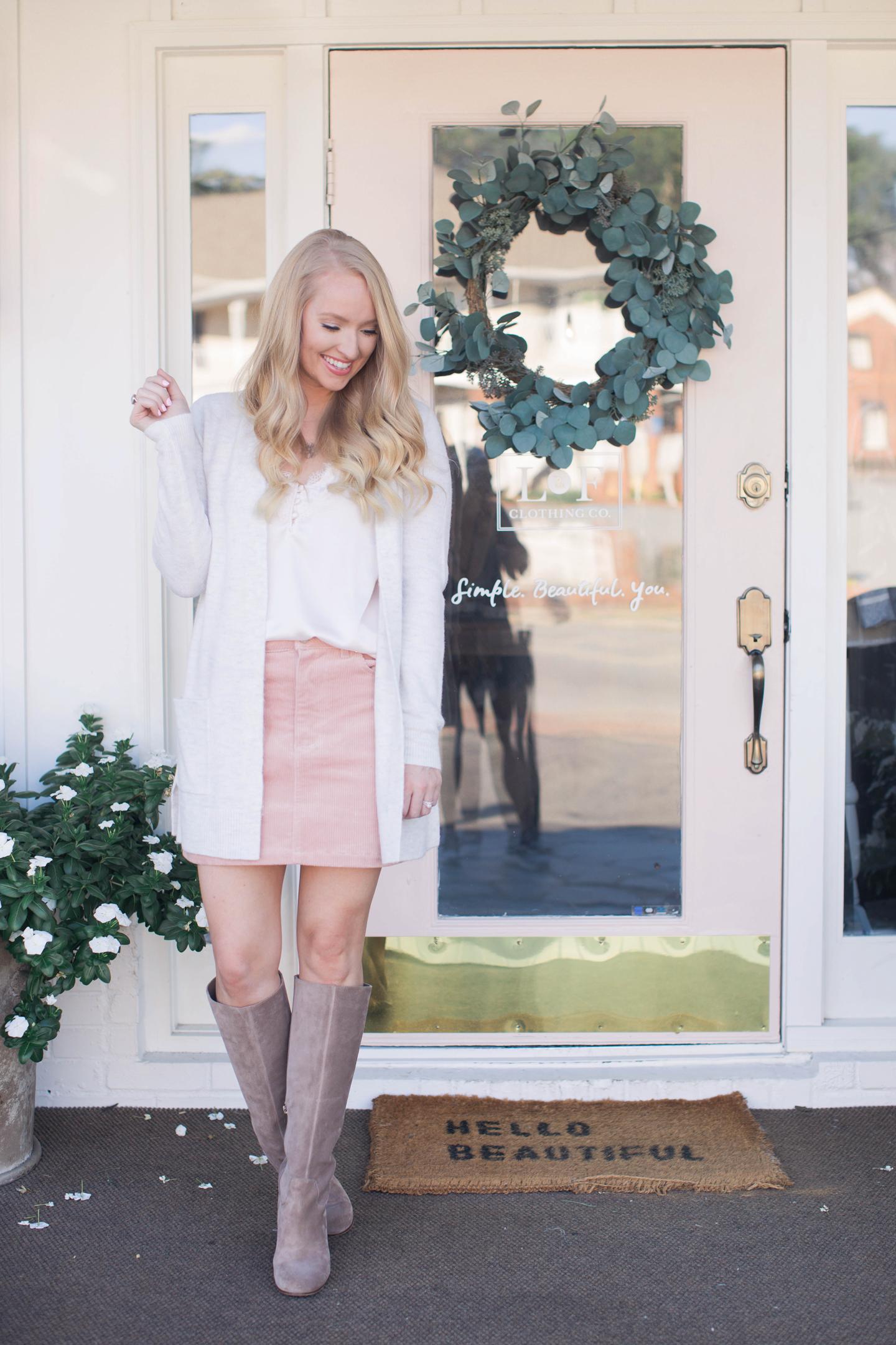 pink-corduroy-skirt