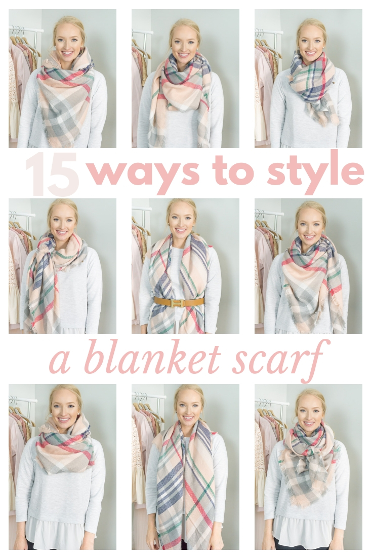 how-to-wear-blanket-scarf-strawberry-chic, tie blanket scarf, style blanket scarf, blanket scarf ideas,