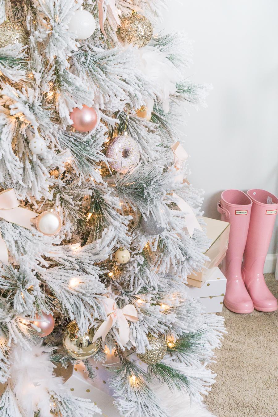 Blush And Gold Feminine Christmas Tree Strawberry Chic