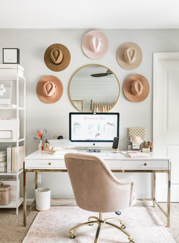 feminine office decor