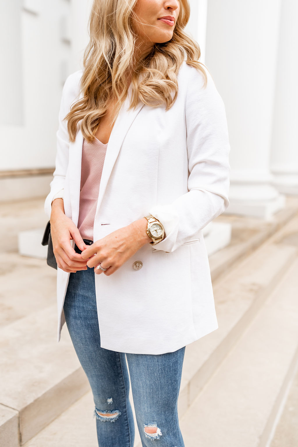 How to Style A White Blazer