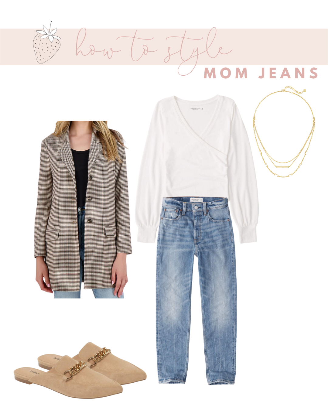 How to Wear Mom Jeans without Looking Frumpy