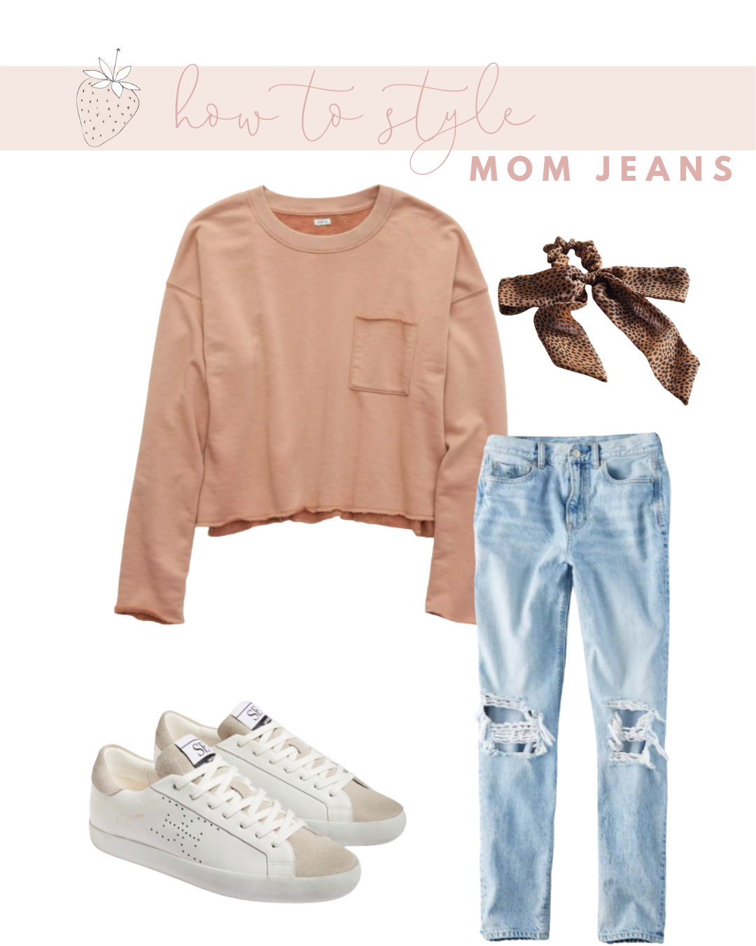 Mom Jeans with a Cropped Sweatshirt