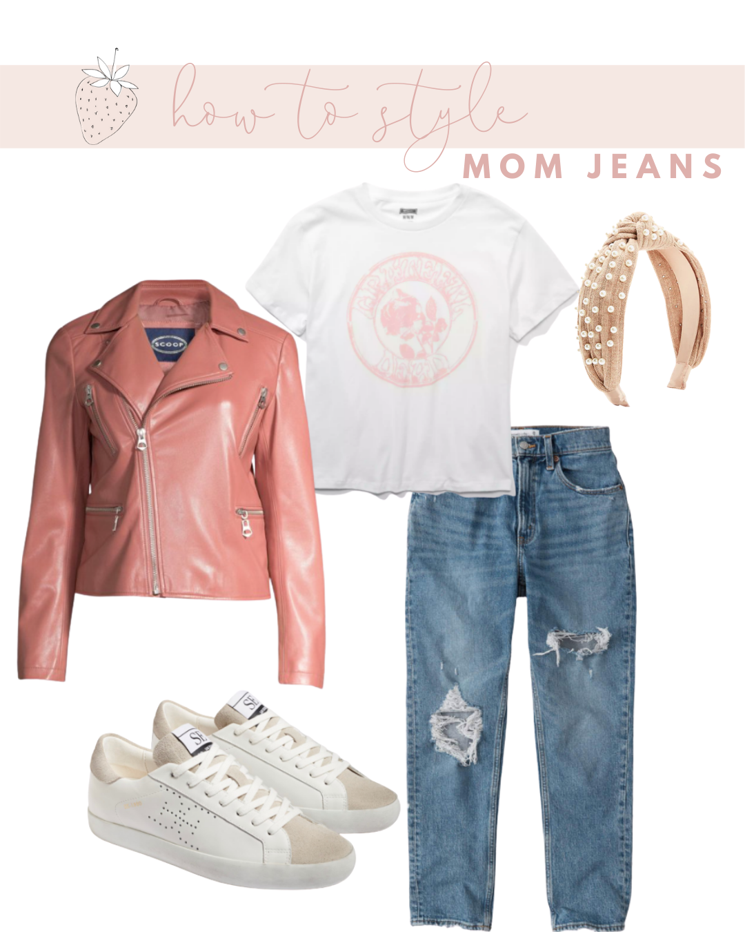 Mom Jeans with a Graphic Tee