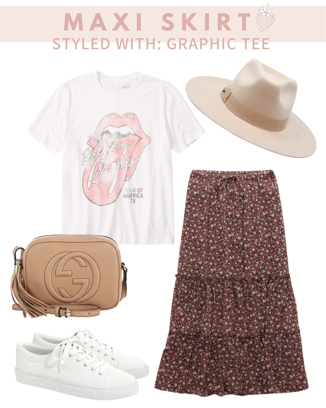 graphic tee and sneakers