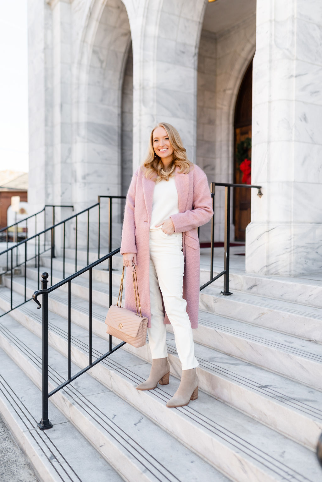 How to Style Pinks and Whites During Winter