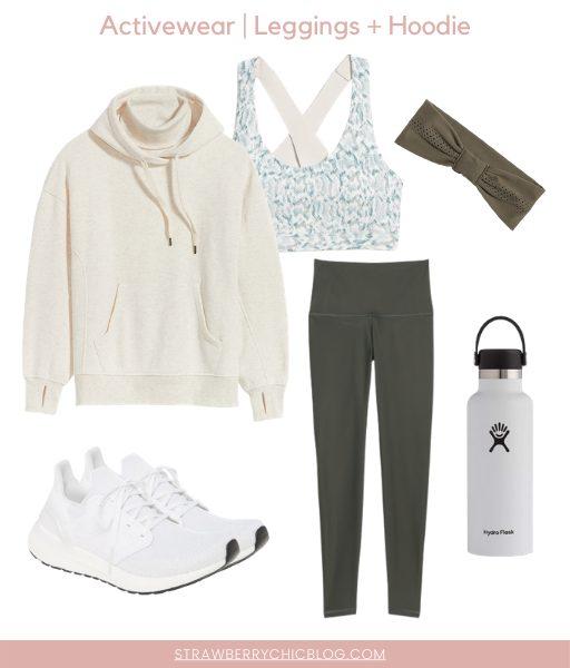 leggings and hoodie activewear