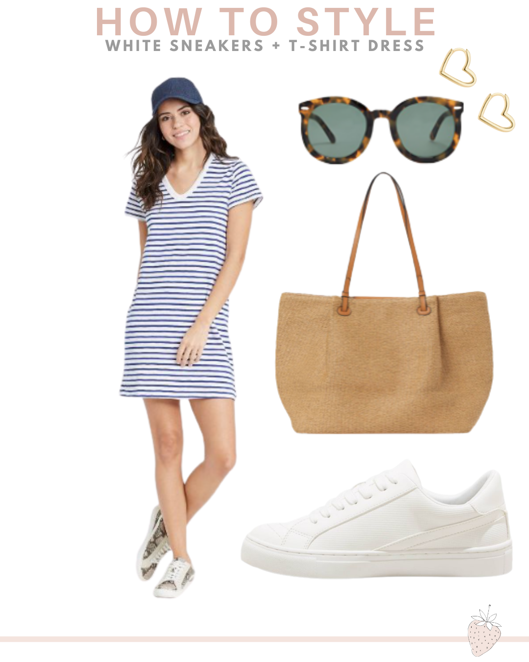 tshirt dress and sneakers