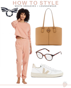 loungewear and sneakers