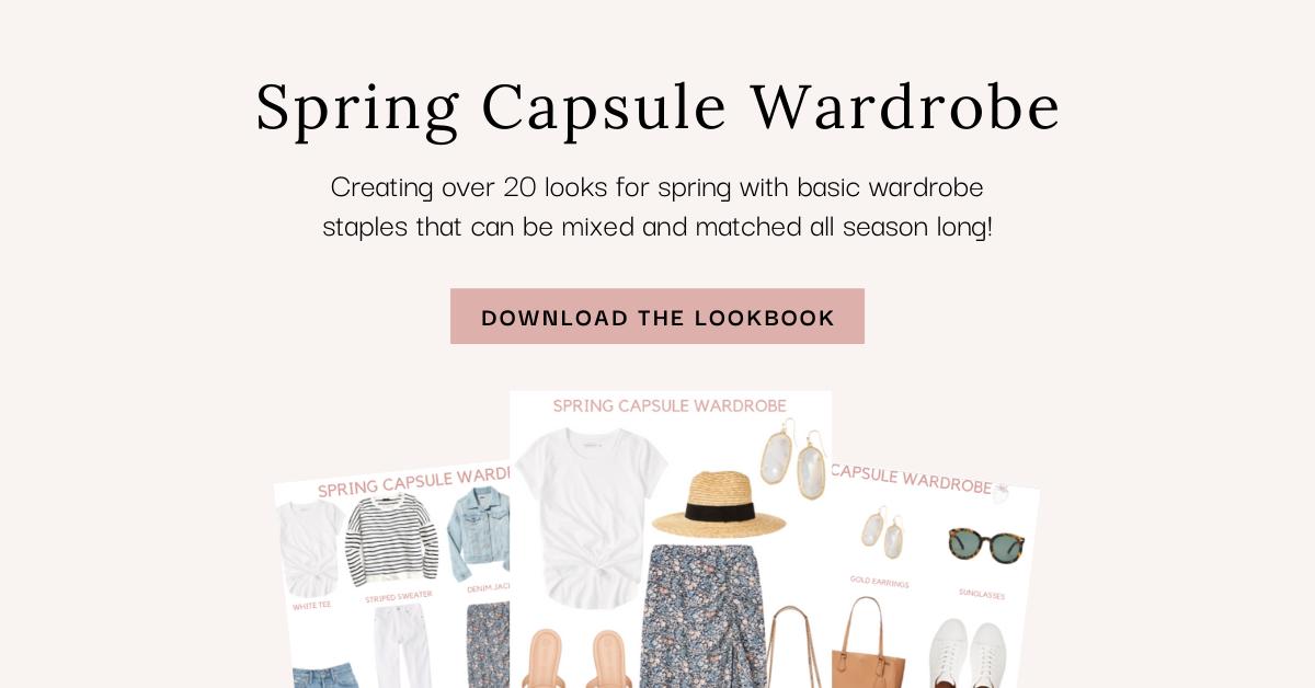 spring wardrobe essentials and combo lookbook