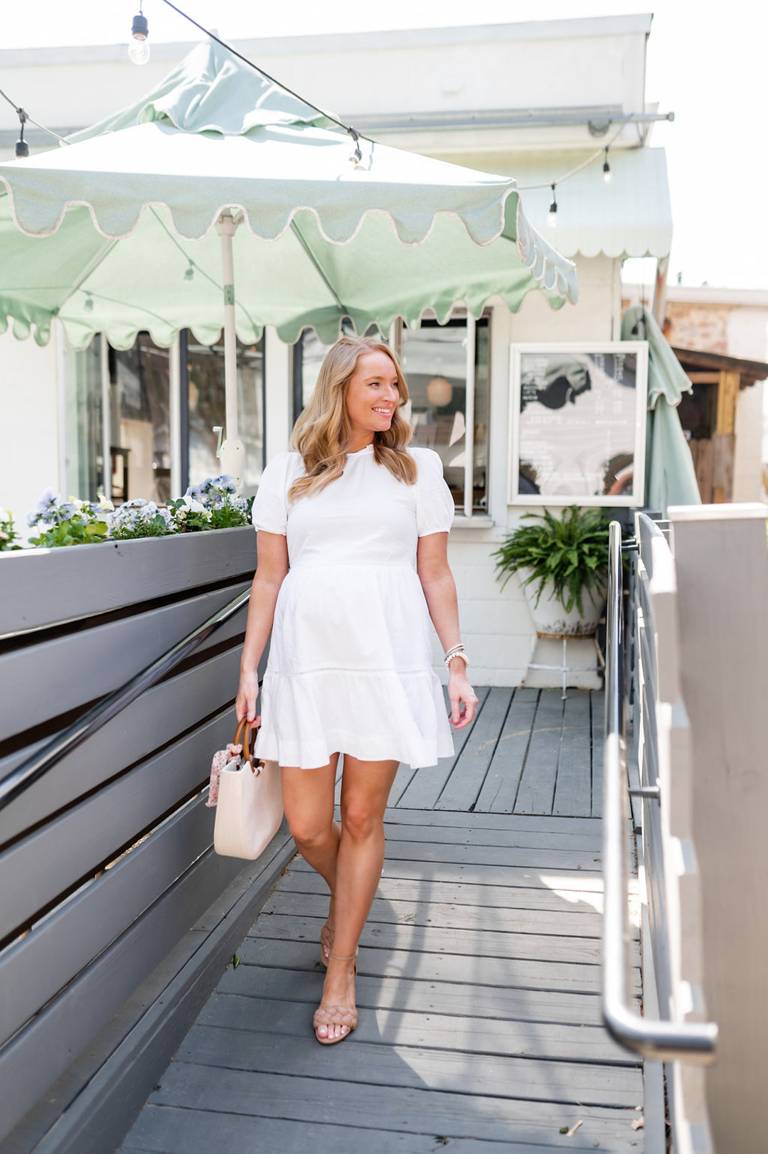 Hacks to Dress for Hot Weather, wear a white dress