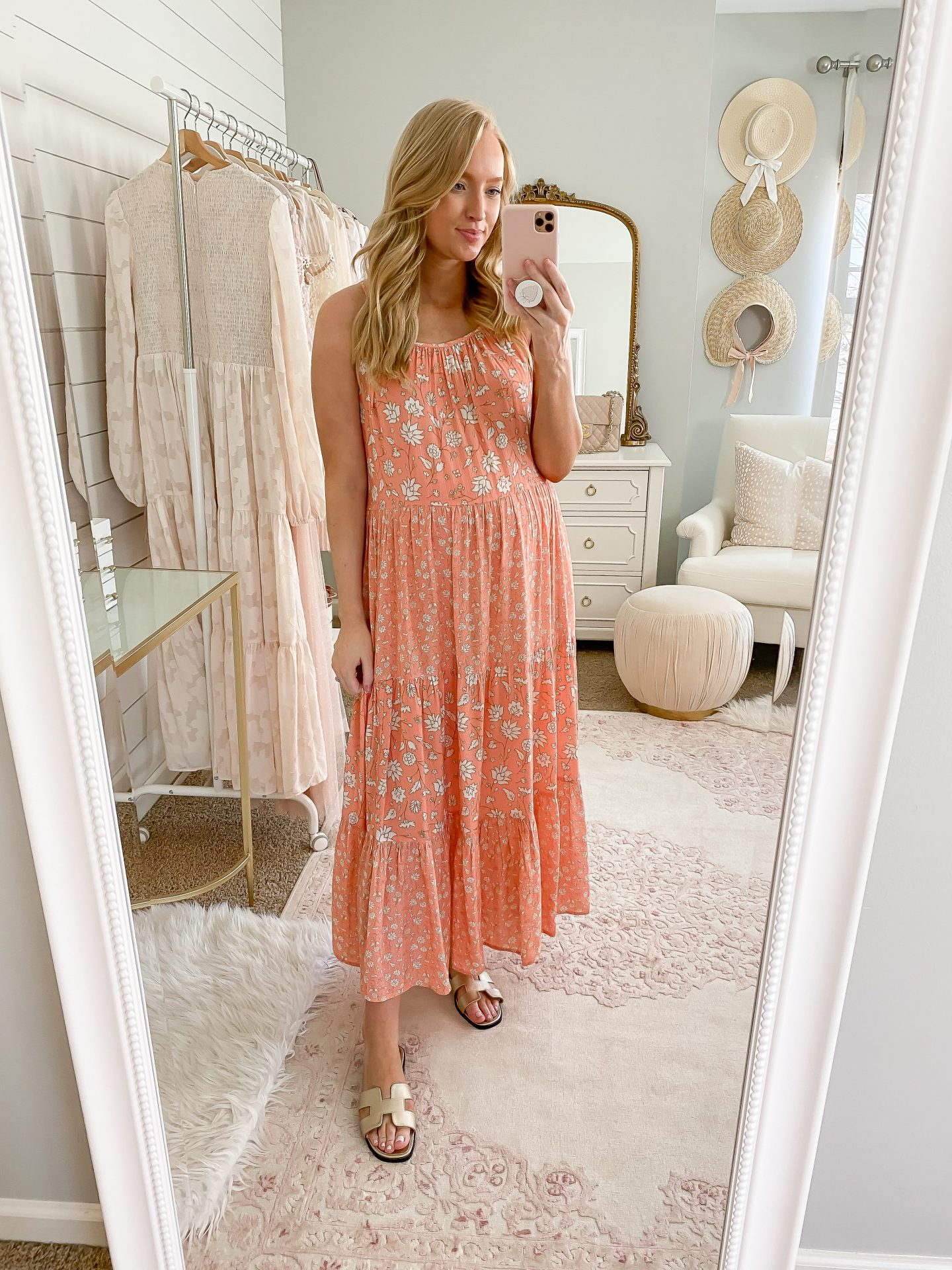Spaghetti Strap Tiered Mix Floral Dress | The Best Flowy Long Dresses for Summer
