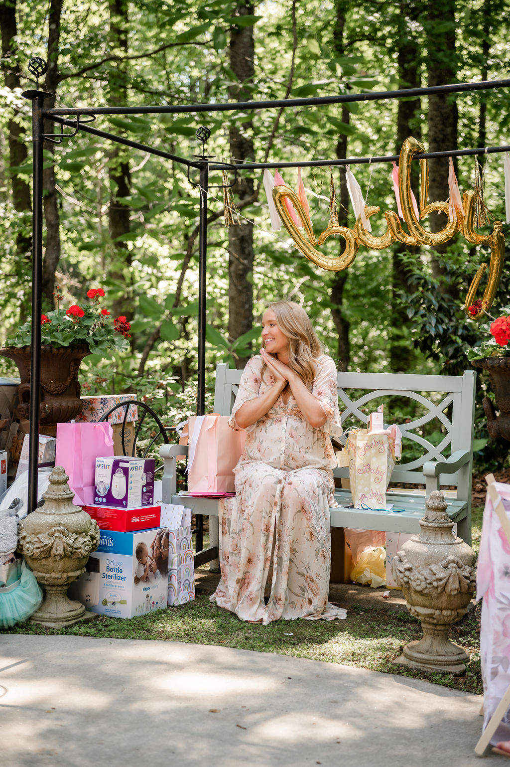 maxi floral dress outdoor party