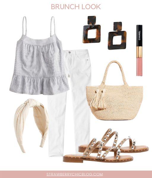 How To Style Classic Wardrobe Basics like white denim