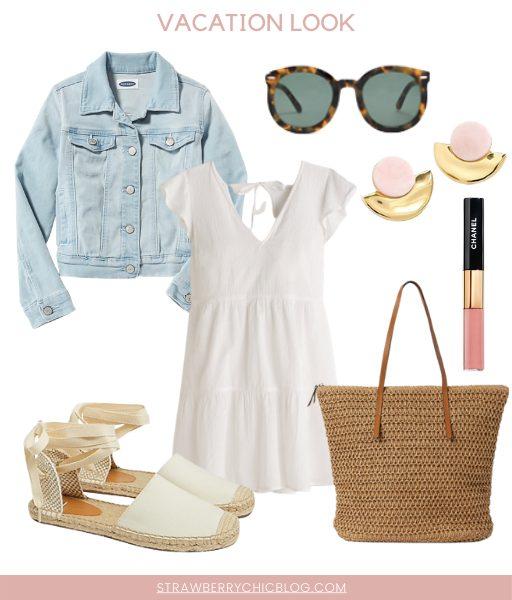 How To Style Classic Wardrobe Basics like a white dress