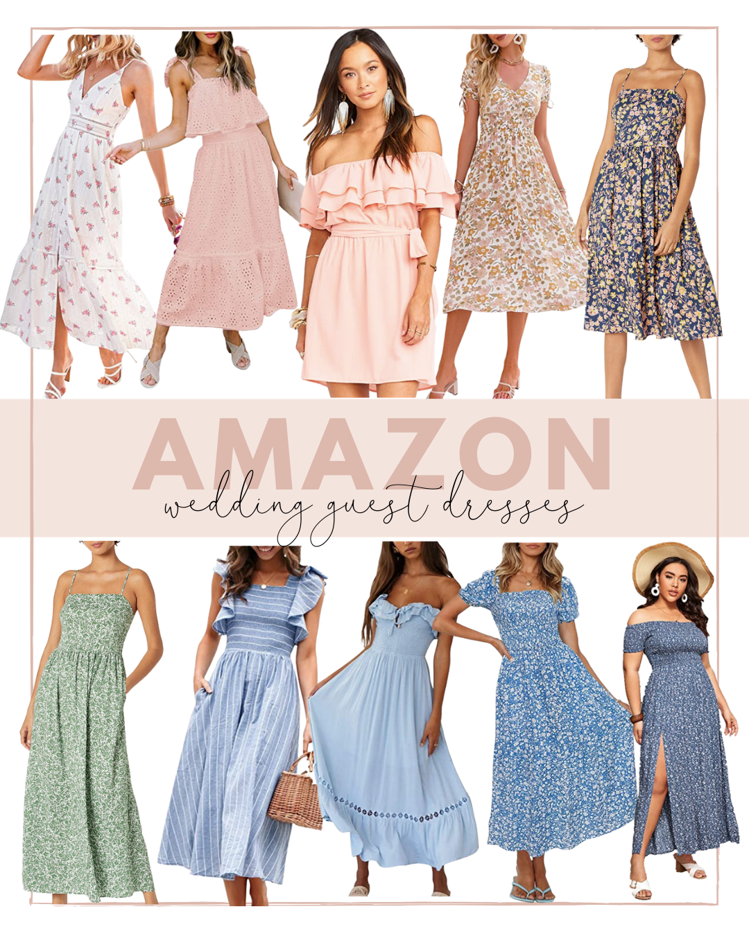 Affordable Wedding Guest Dresses from Amazon