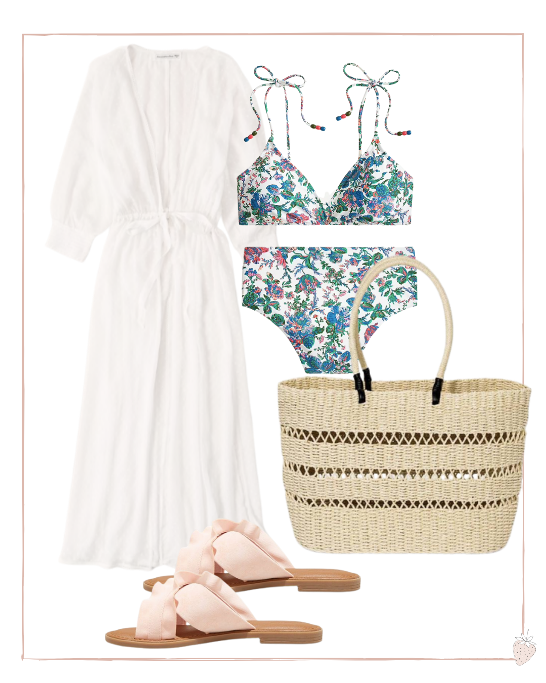 Kimono Styled with a Swimsuit
