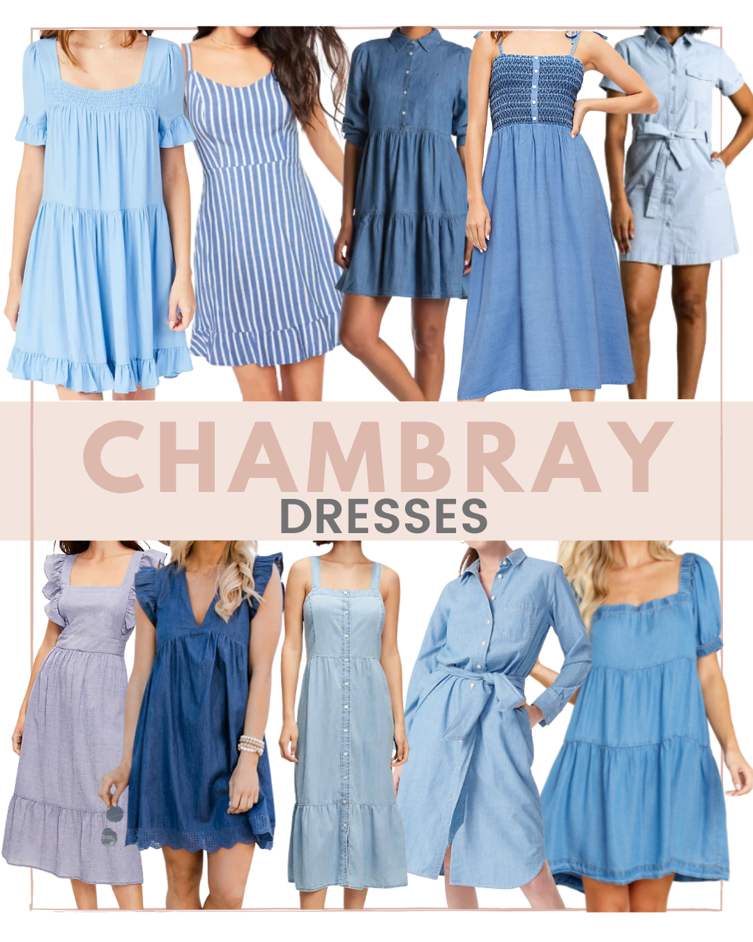 How to Style a Chambray Dress