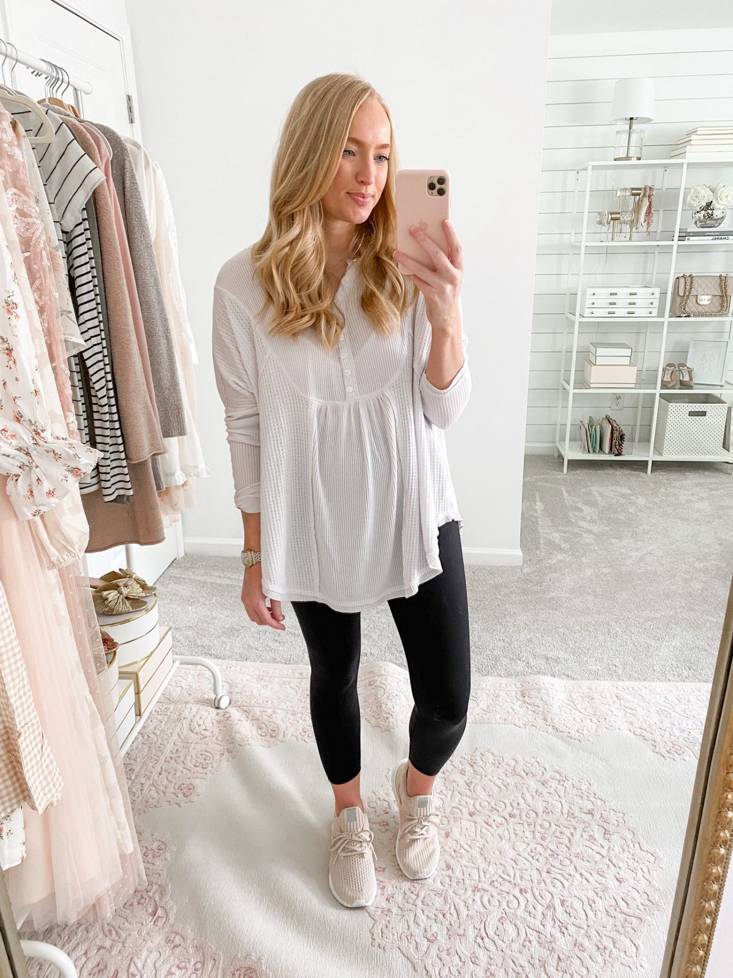Black Leggings with a Tunic
