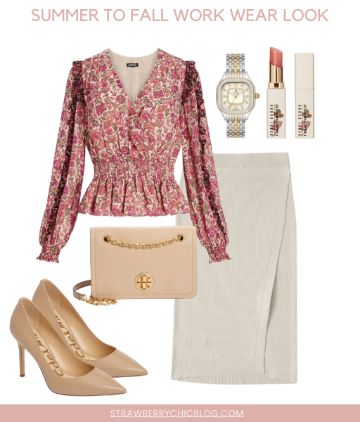 What to wear summer to fall work outfit