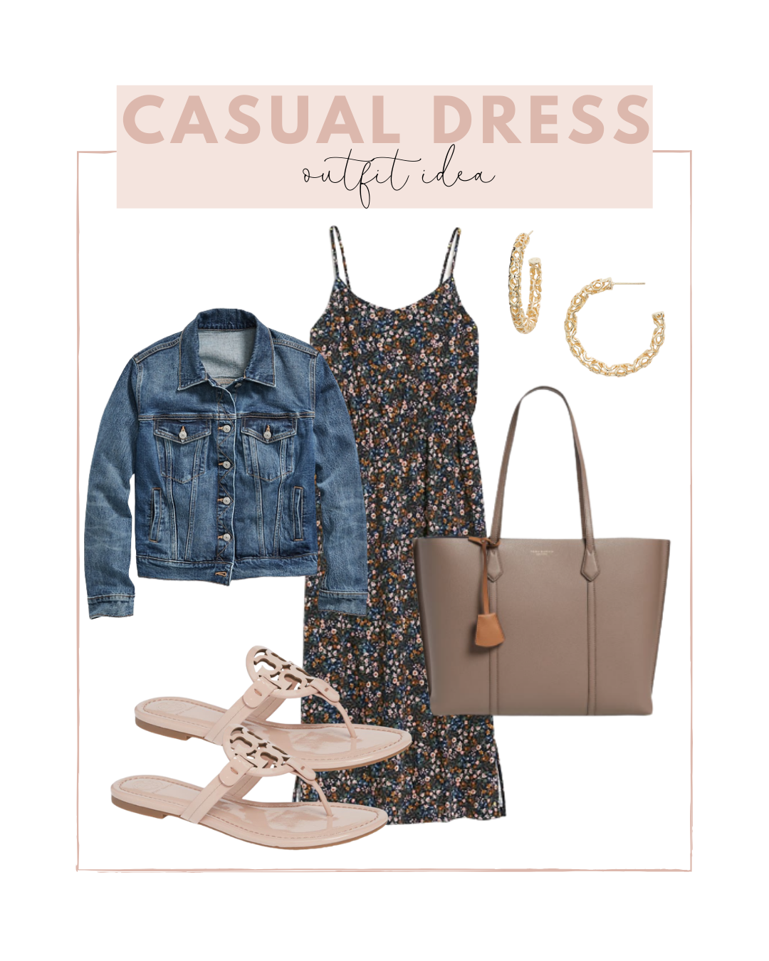 Casual dress outfit idea