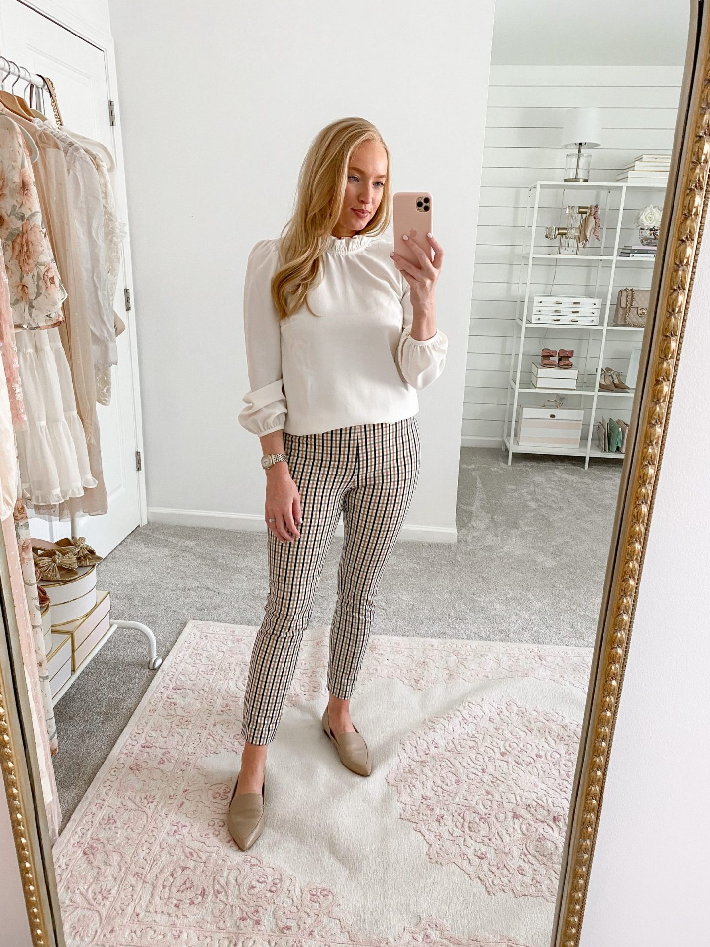 Skinny Ankle Pants with Blouse