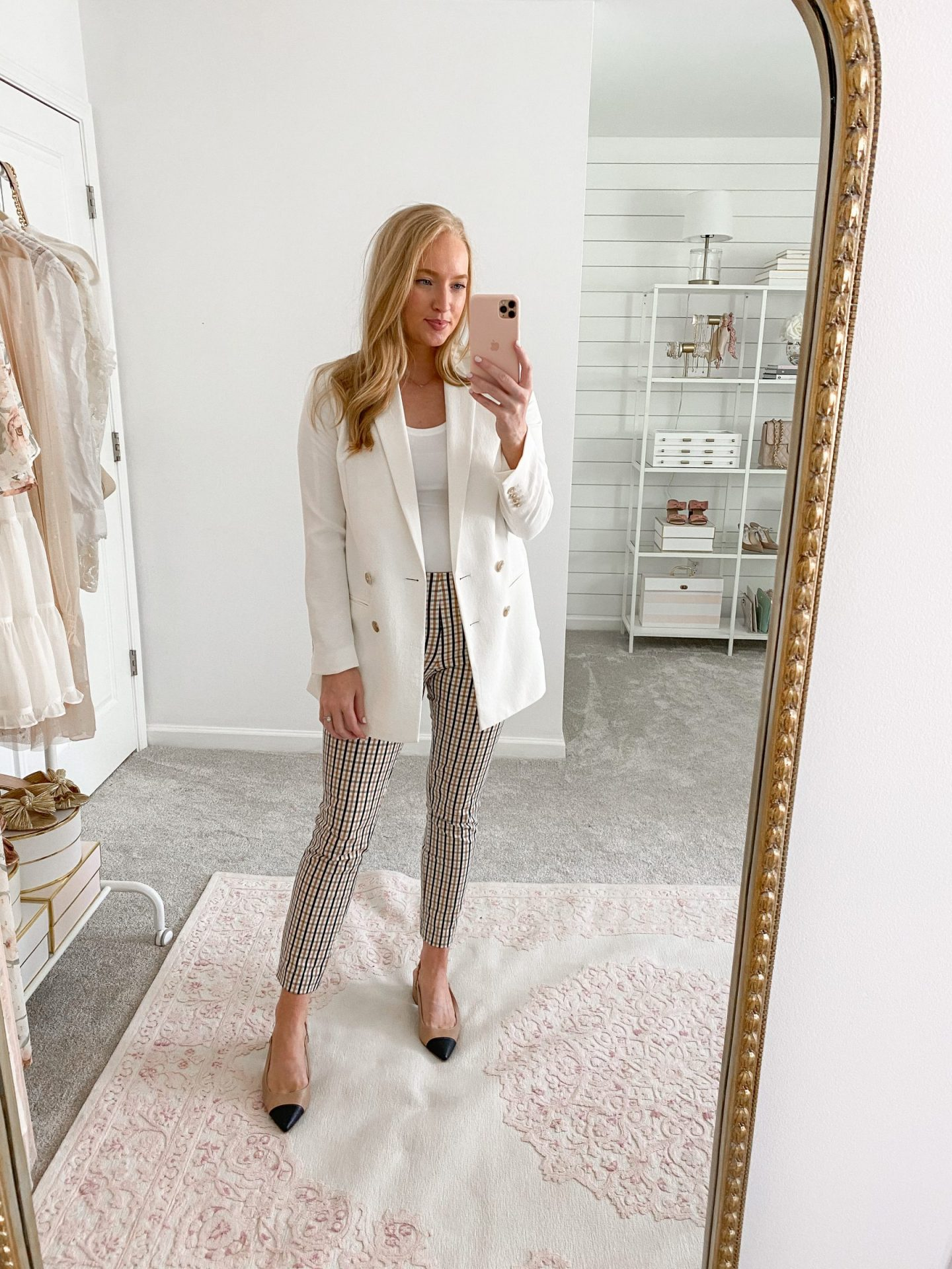 White Blazer with Ankle Pants