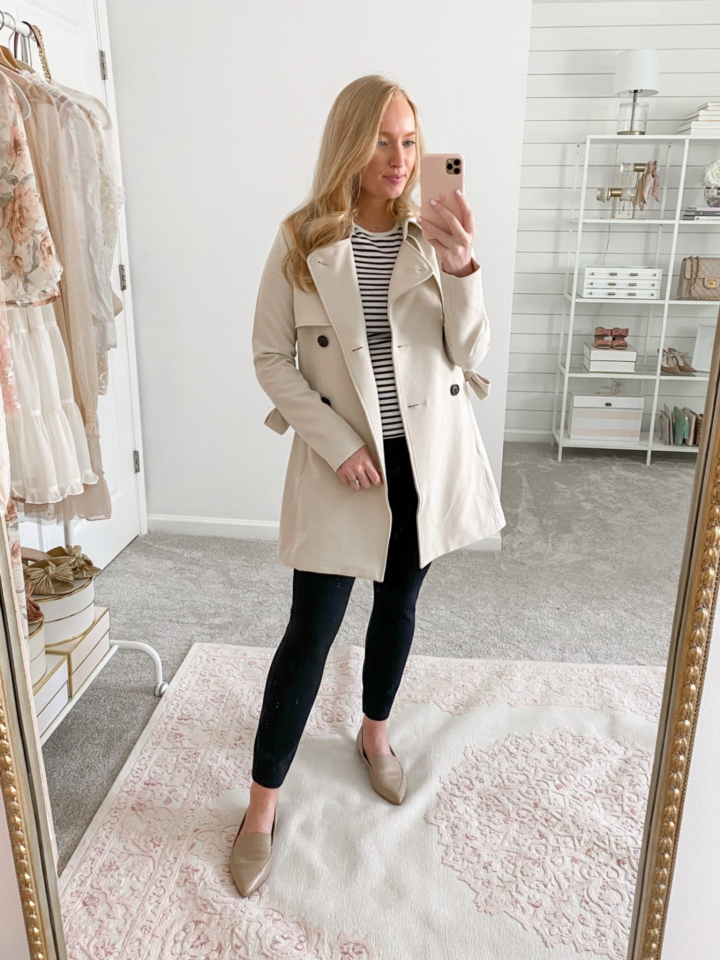 best fall outfits for work   Fall Trench Coat with Black Ankle Pants
