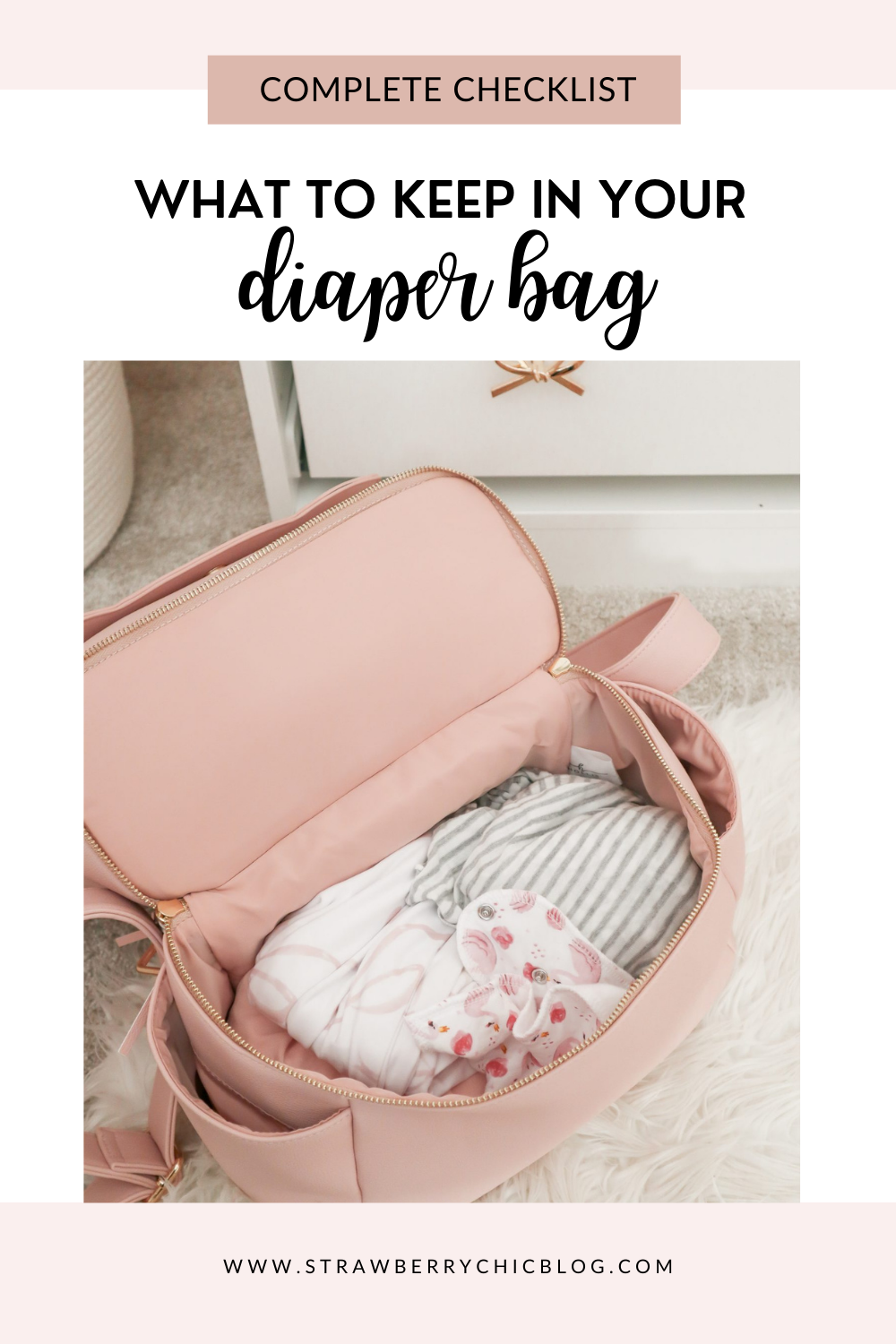 What to Keep In Your Diaper Bag Pin